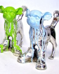 Cloned-silver-plated-bronze-chihuahua-with-shoes-(1)