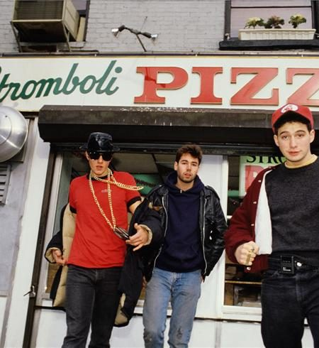 Beastie Boys - stromboli pizza on street NEW YORK CITY, 1986