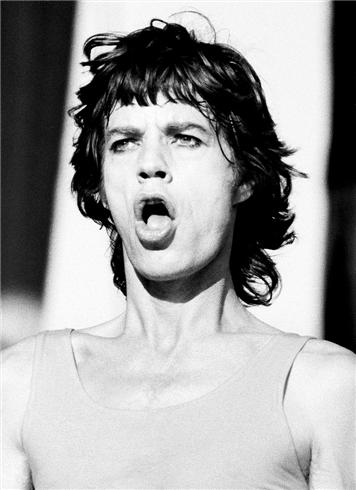 rolling Stones Mick jagger Head performing mouth open PHILADELPHIA, 1981
