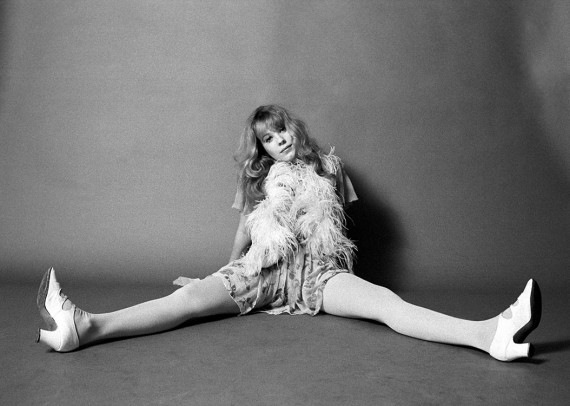 Pamela Des Barres, one of the groupies of the GTO's, poses at the A&M Studio in Los Angeles, CA, November 1968
