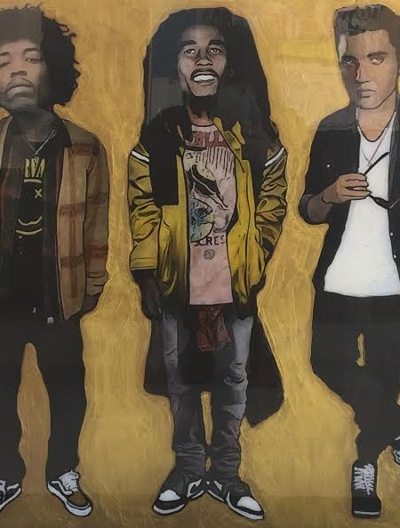 Jimi Hendrix, Bob Marley, Elvis