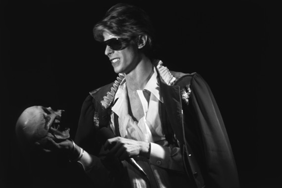 English singer, musician and actor David Bowie in concert during his Diamond Dog tour at the Universal Amphitheatre in Los Angeles, CA, US, September 5th, 1974.