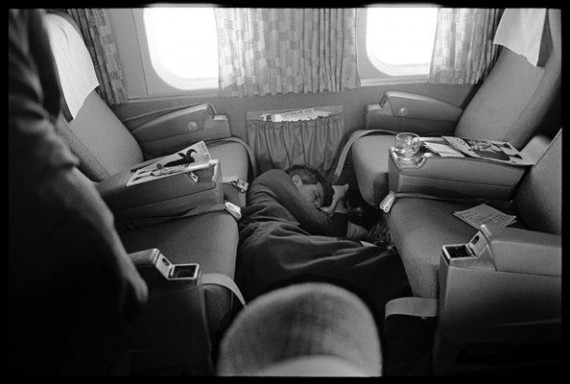 Schiller Kennedy asleep on plane