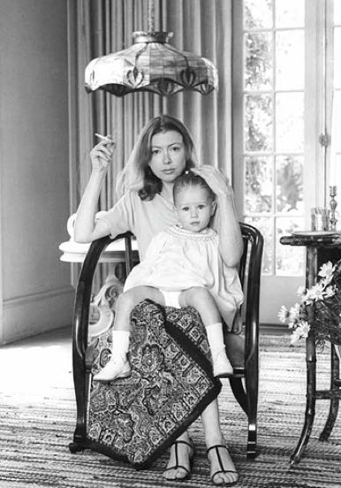 Joan Didion with her Daughter by Julian Wasser