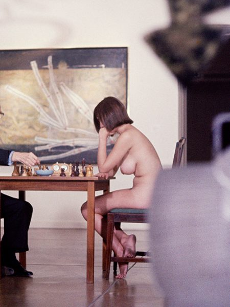 Marcel Duchamp and Eve Babitz by Julian Wasser (color)