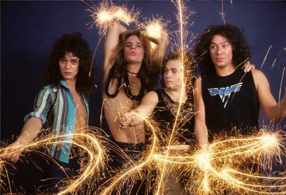 Van Halen sparklers LOS ANGELES, 1979