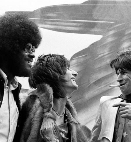 Rolling Stones Ron wood Keith richards Billy Preston NEW YORK CITY, 1975