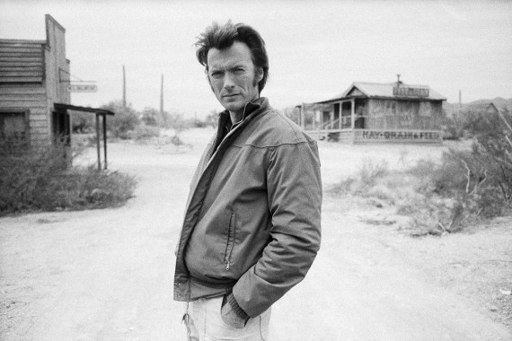 American actor Clint Eastwood on the set of the American western 'Joe Kidd' directed by John Sturges in 1972.