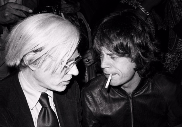 Lynn Goldsmith - Andy Warhol and Mick Jagger 1977