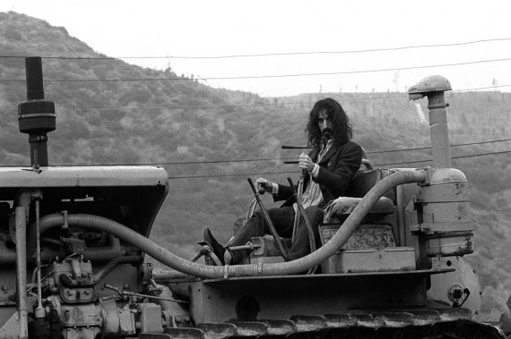 American composer and musician Frank Zappa near his home in Laurel Canyon, Los Angeles, May 1968.