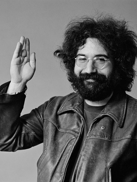 Jerry Garcia (1942-1995) of American rock band the Grateful Dead in Belvedere St. Studio, San Francisco, CA, July 1969.