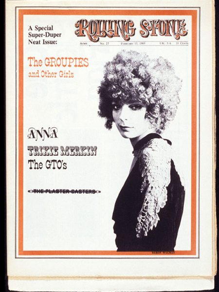 Karen Seltenrich's groupie portrait became the cover image of the Rolling Stone magazine's groupie issue in February 1969. She was photographed at Belvedere Street Studio in San Francisco, CA, November 1968.