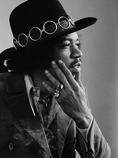 American guitarist and singer Jimi Hendrix, San Francisco, February 1968.