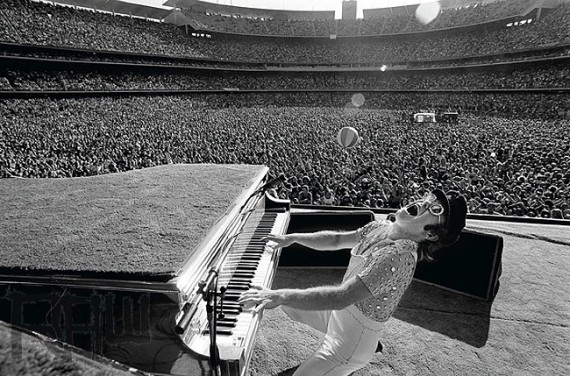 Terry OÕNeill was the official tour photographer for Elton John 1975