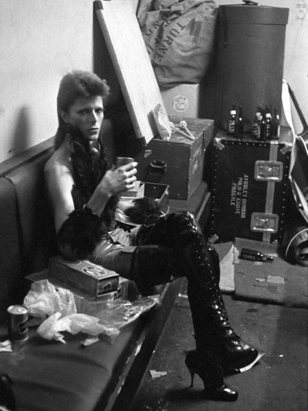 David Bowie performed for the last time as Ziggy Stardust  at the Marquee club during a three night filming sesion of 'The 1980 Floor Show' for the American NBC TV late night show in London, 19 October 1973.