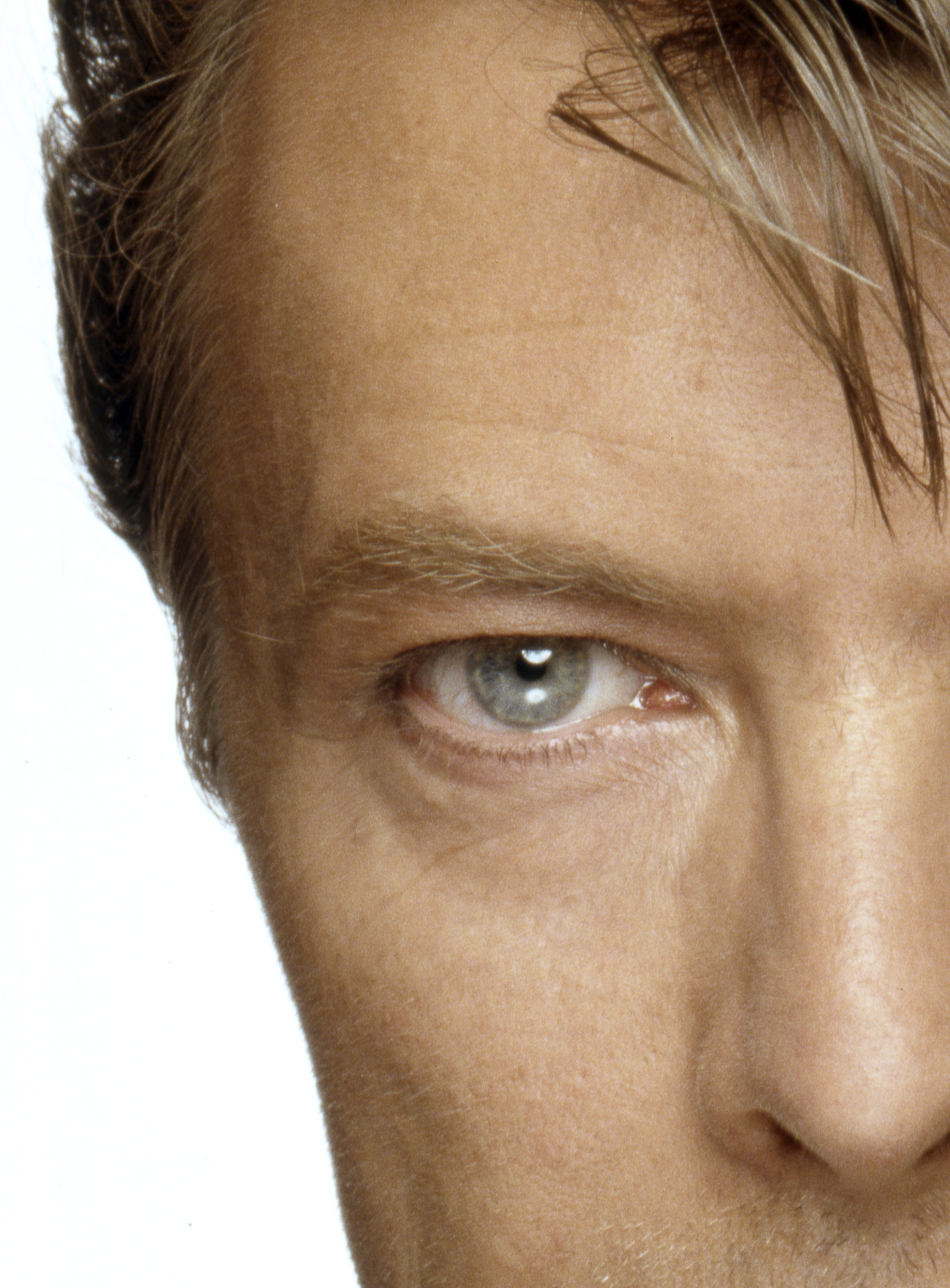 David Bowie Eyes Left Half By Terry Oneill