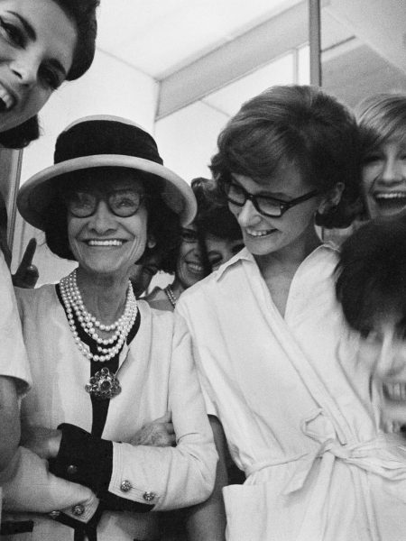 Chanel and models 1962
