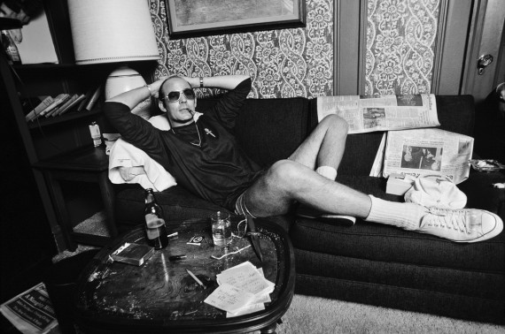 Hunter S. Thompson at the Gramercy Hotel in New York City in1977.