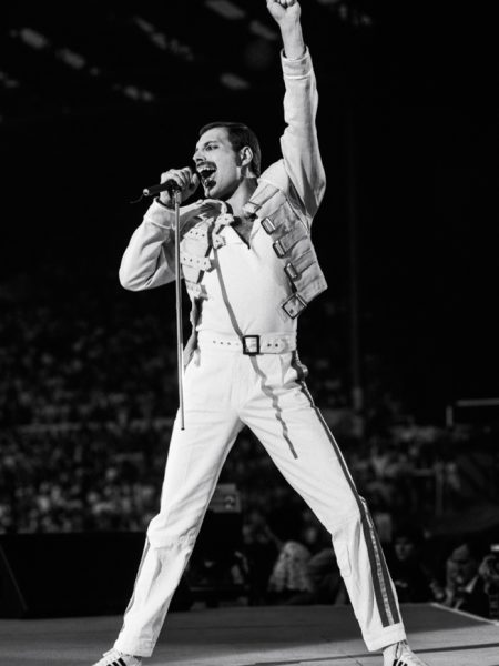 Freddie Mercury at Wembley Stadium, 1986