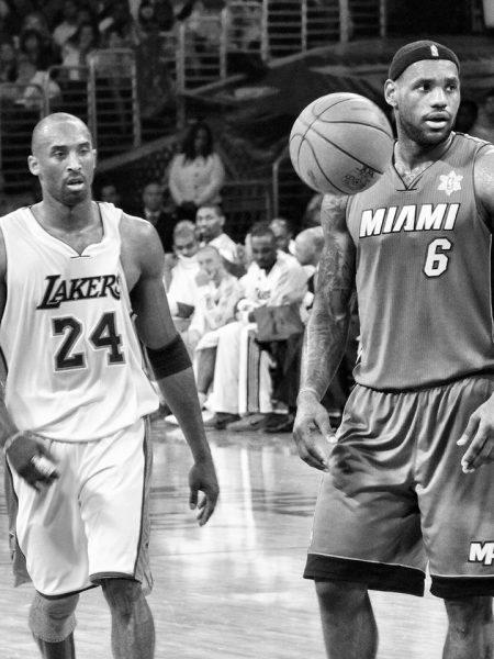 Lebron and Kobe by Cheryl Fox