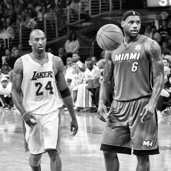 Lebron and Kobe by Cheryl Fox
