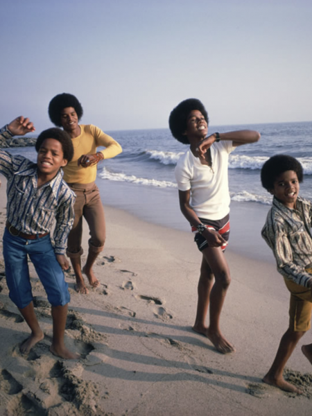 Jackson 5 at Malibu Beach by Lawrence Schiller