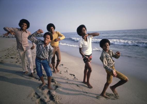 Jackson 5 at Malibu Beach by Lawrence Schiller