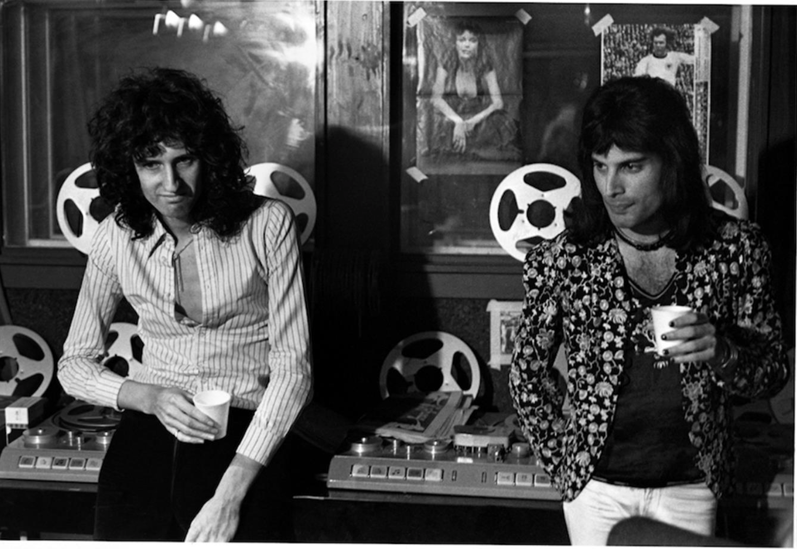 Mick Rock - Brian May and Freddie Mercury in Recording Studio -