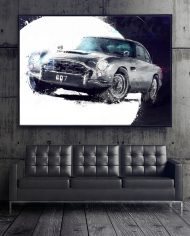 NICO BOND II James Bond 1965 Aston Martin DB5 from Goldfinger Movie 30X40