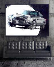 NICO BOND II James Bond 1965 Aston Martin DB5 from Goldfinger Movie 30X40
